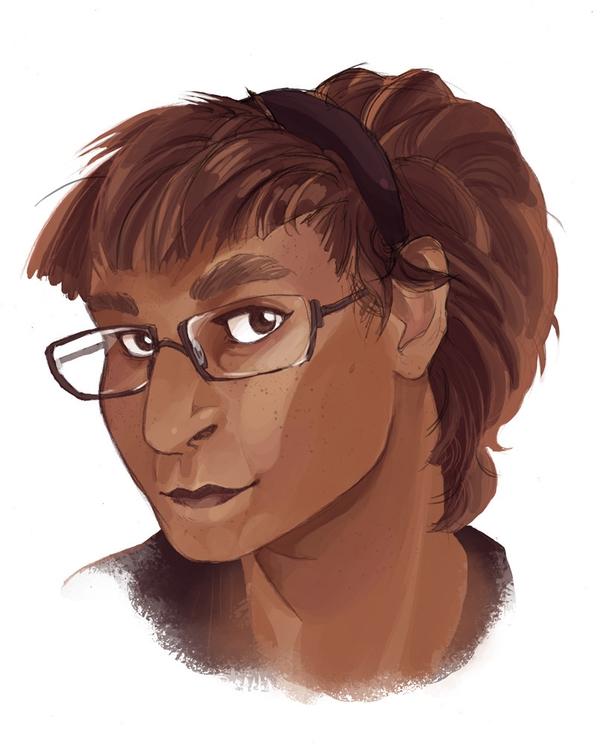 Portrait boss moved artsy job - illustration - cobbillustrations | ello