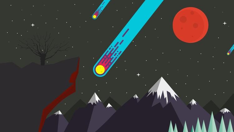 Meteor Shower Wallpaper - illustration - amreet | ello