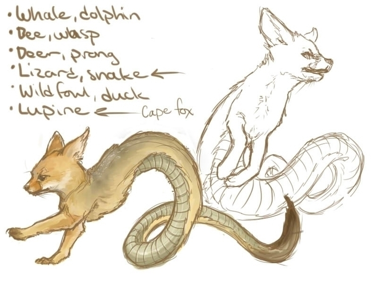 Desert Snake/Fox Creature Conce - celestialartistry | ello