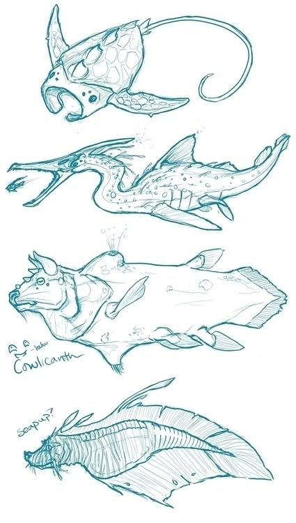 Aquatic Creature Concepts - Creatureconcept - celestialartistry | ello