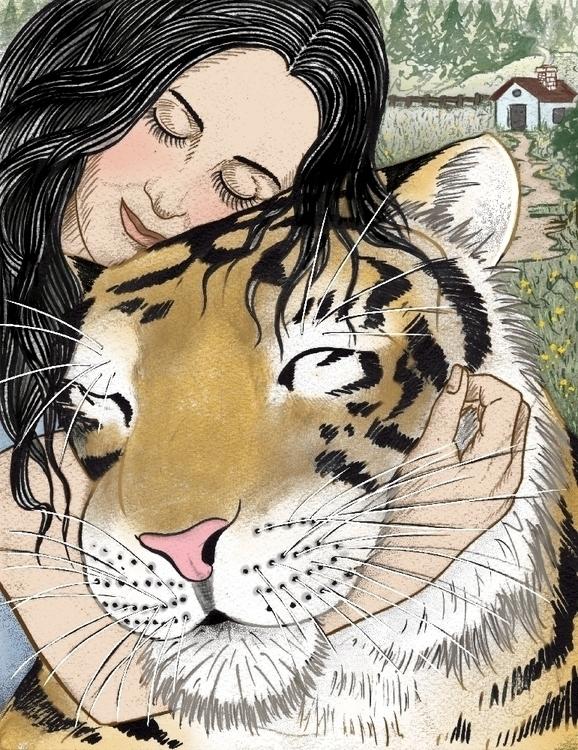 WIFE 3 - illustration, tiger, thetiger'swife - jchalarca | ello