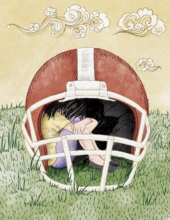 DOMESTIC VIOLENCE NFL - illustration - jchalarca | ello