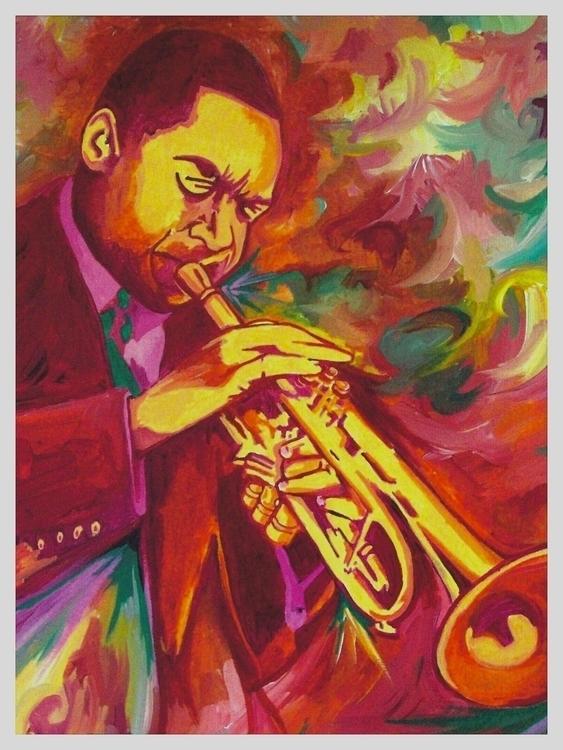 painting, WyntonMarsalis, Jazz - rodjohnsonart | ello
