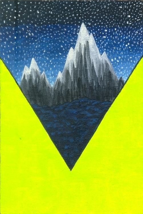 Mountain - illustration, painting - olga_msk | ello