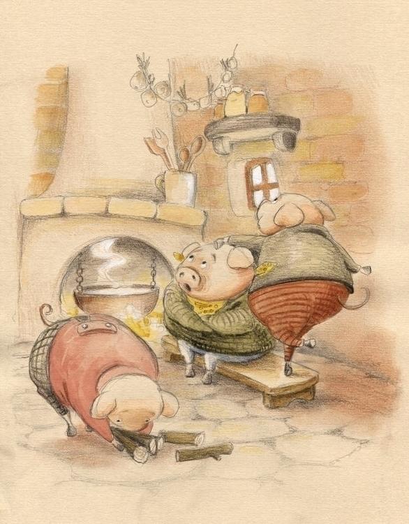 Pigs. attack chimney, smartest  - joannapasek   ello