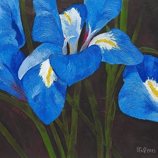 IRIS Memoriam Iris Pye Acrylic  - artenvy | ello