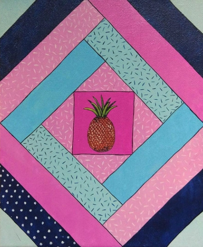Apple - illustration, painting, pineapple - olga_msk | ello