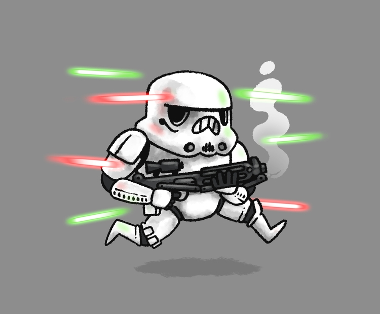 4th - starwars, stormtrooper, illustration - colinbrown-7810 | ello