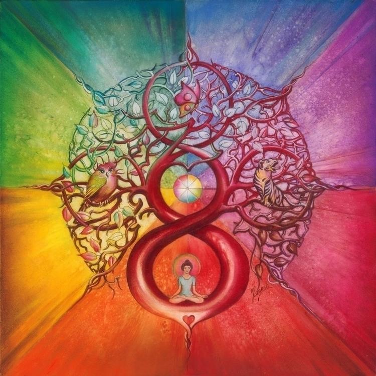 Heart Infinity - Mandala Wealth - annahannahart   ello