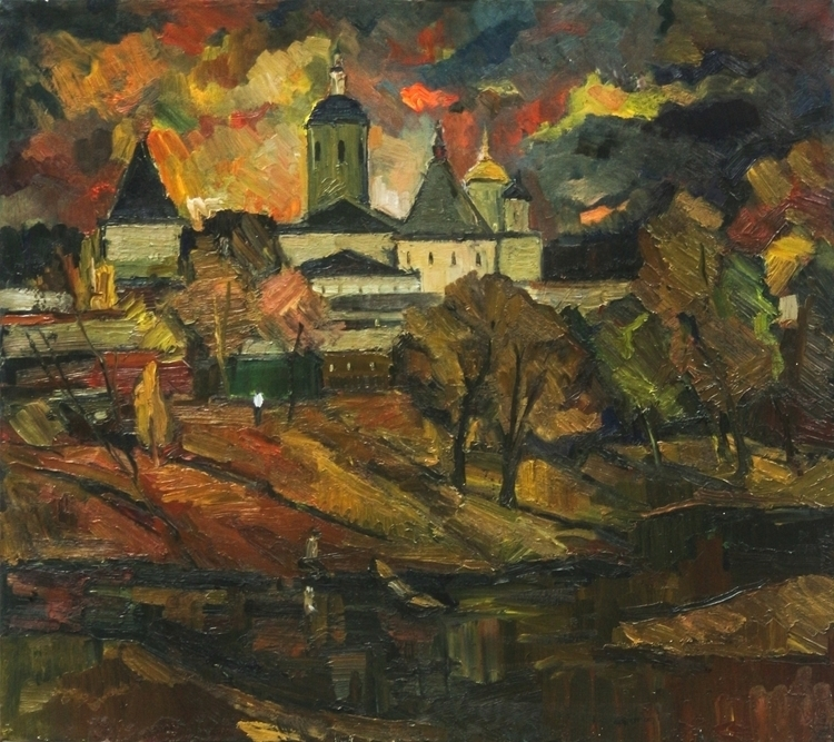 Borovsk,80/90,Oil/canvas,2015 - painting - antonbogatov | ello