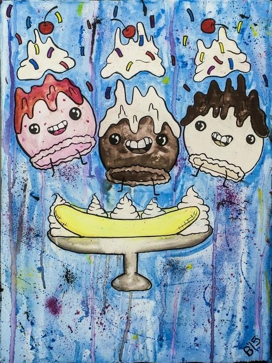 Banana Split Watercolor ink can - brieana   ello