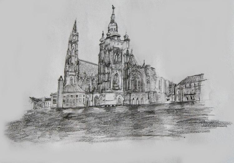 Veitsdom, gothic architecture w - wickedbastet1982 | ello