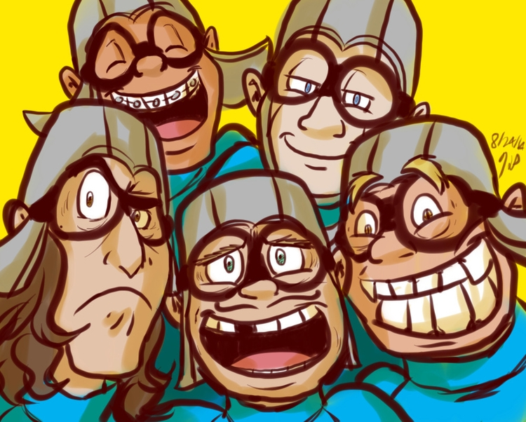 Group shot - illustration, aquabats - kelsbugproductions | ello