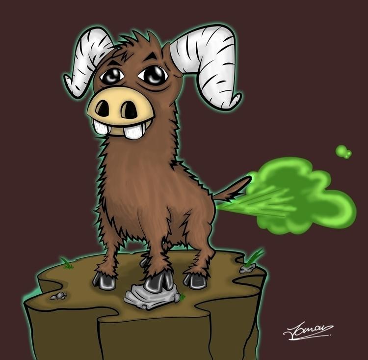 Yak Stinky Pak - illustration, illustrator - juju_mahn336arts | ello