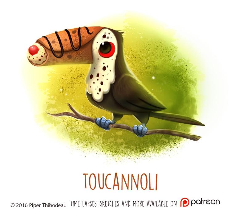 Daily Paint 1471. Toucannoli - piperthibodeau | ello