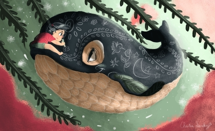 Whimsical Whale Tale 1/2 - illustration - unicorndoodles | ello
