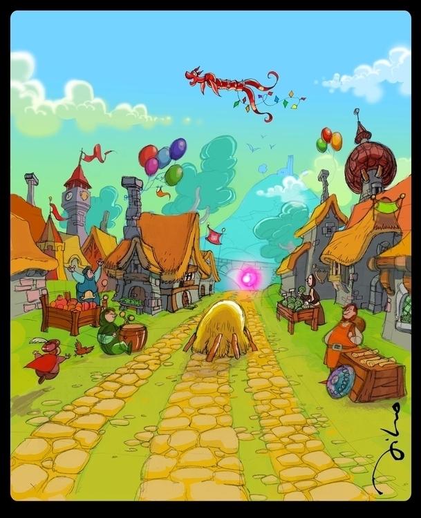Background game - illustration - tiho-3213 | ello