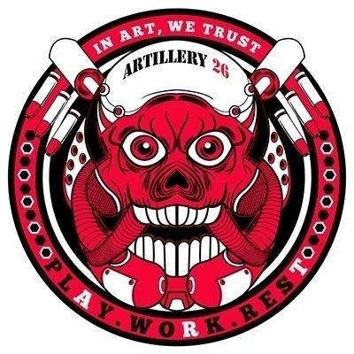 Artillery 26 logo - 1, skull, characterdesign - artillery26 | ello