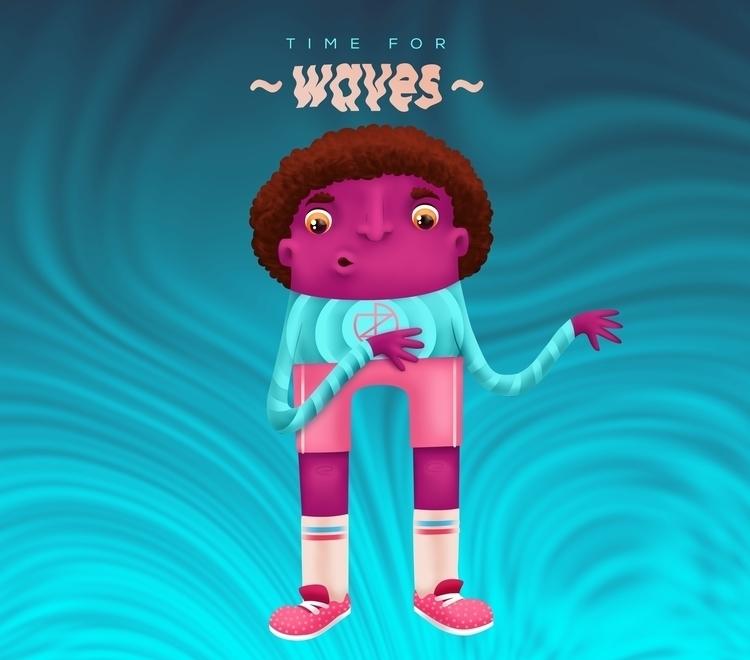 TIME WAVES - illustration - ivana-7596 | ello