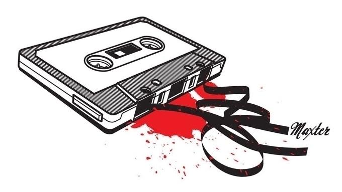 Crashed Audio Cassette - audio, cassette - maxter-3164 | ello