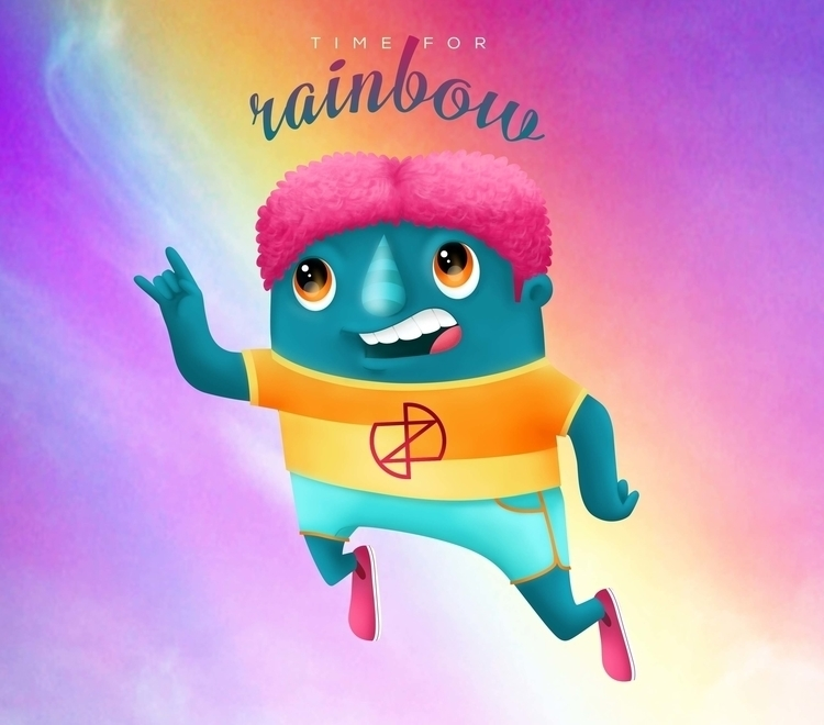 TIME RAINBOW - illustration - ivana-7596 | ello