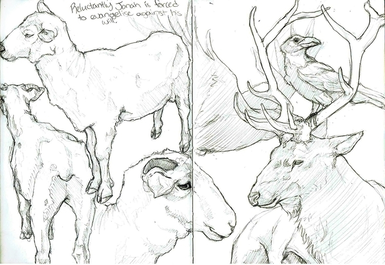 Moleskin Project - pg 05 - Animals - celestialartistry | ello