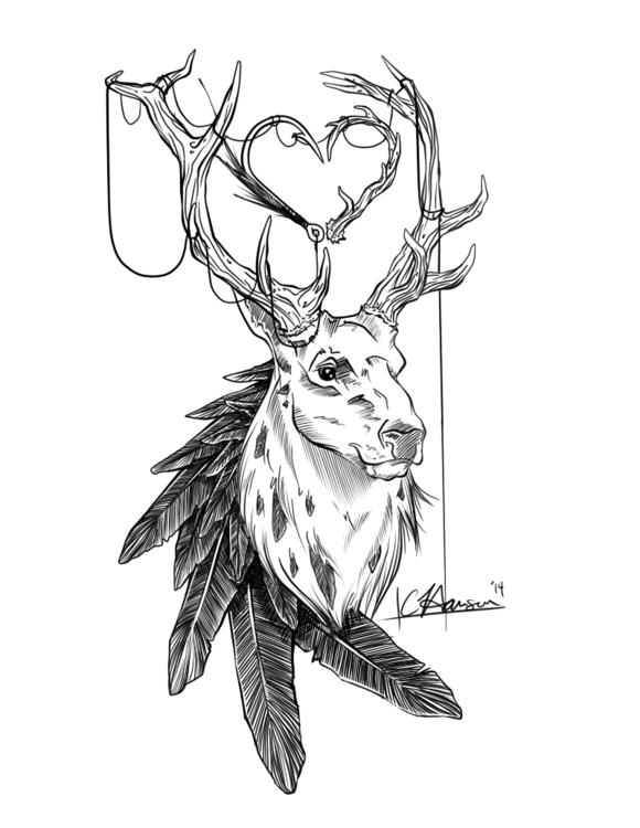 Hannibal Inspired Tattoo Commis - celestialartistry   ello