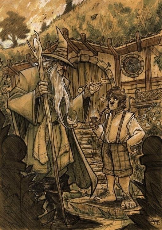 Hobbit - Gandalf Bilbo - denismedri - denismedri | ello