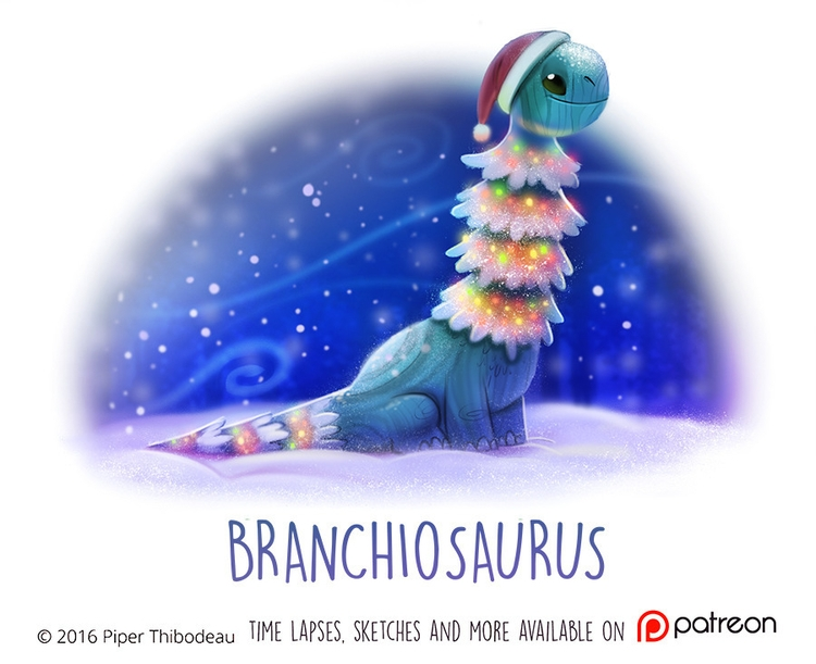 Daily Paint 1474. Branchiosauru - piperthibodeau | ello