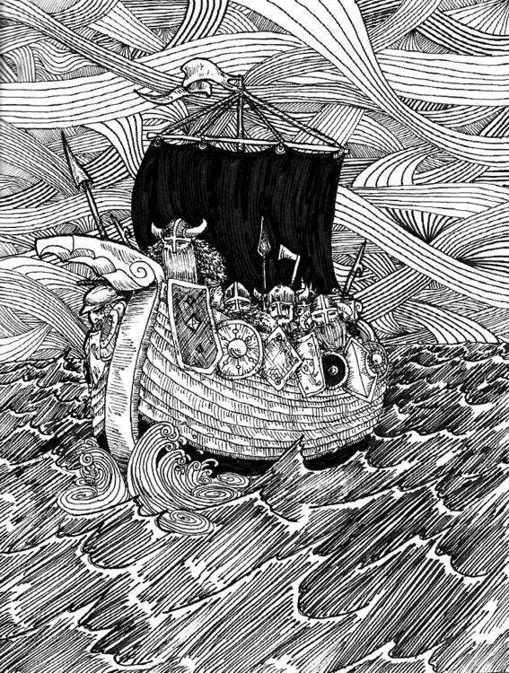 Viking Voyage - vikings, voyage - wyldtrees | ello