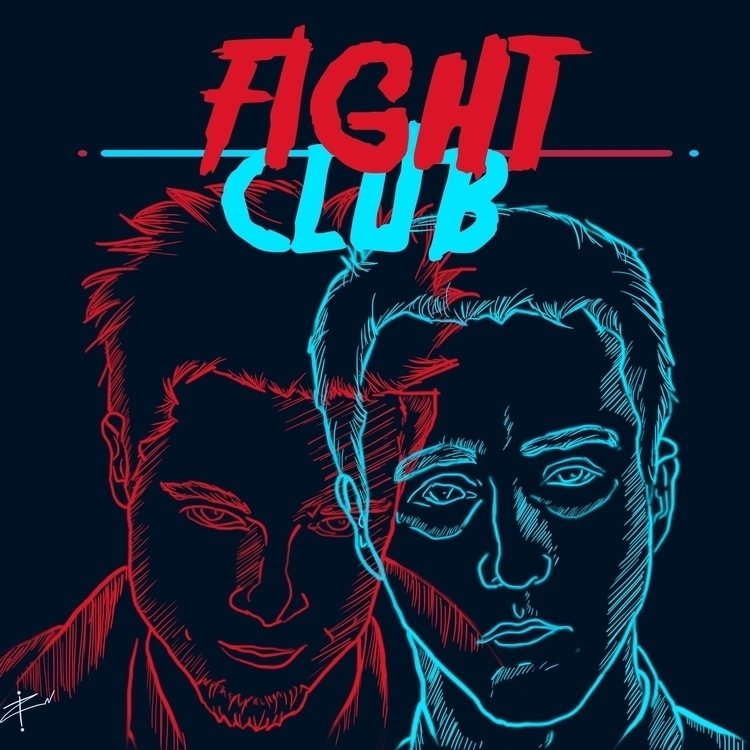 Fight Club poster - drawing, illustration - raulkammradt | ello