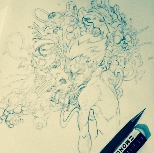Fan art version Tetsuo week - illustration - marmotavsmilky | ello