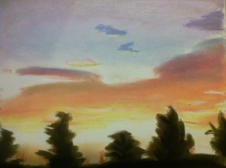 sunset - fineart, landscape, pastels - chimerikel | ello