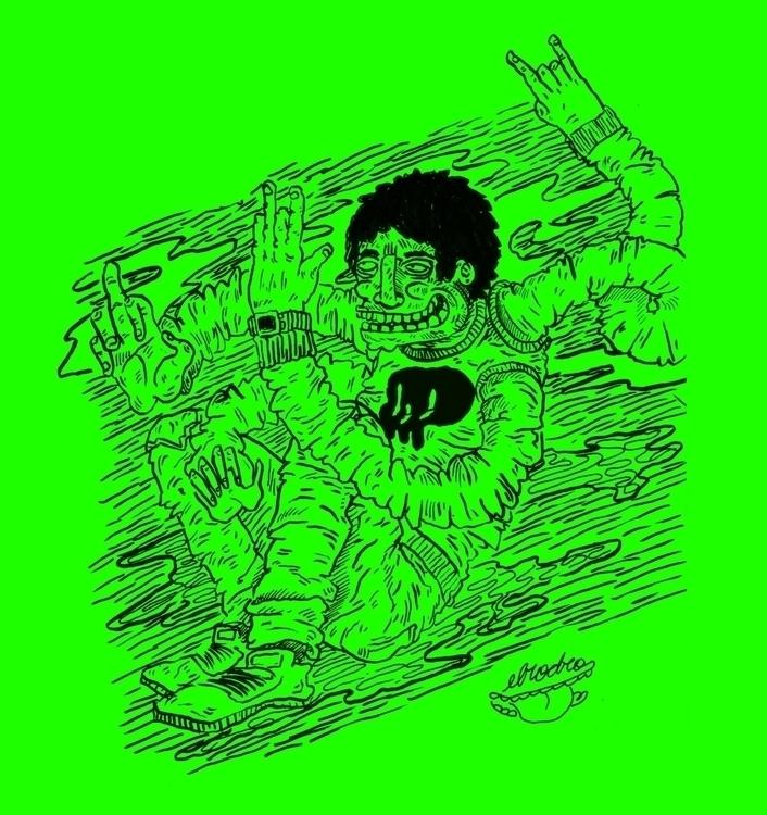 Mutante - illustration, drawing - elrodro | ello
