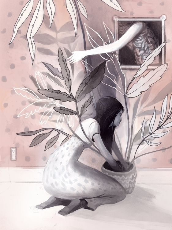 houseplants - illustration, digitalart - nicolexu-8498 | ello