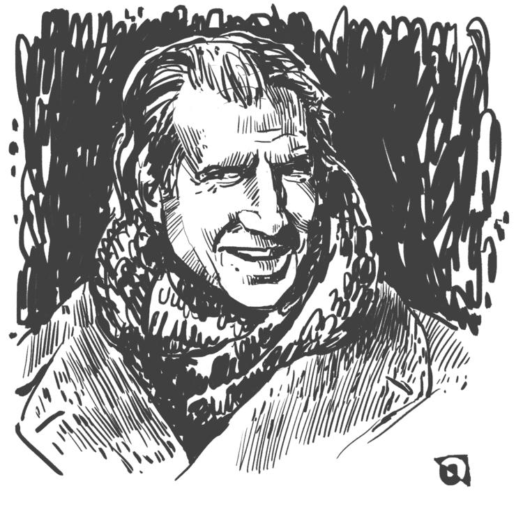 Ralph Finnes - sketch, portrait - prianikn | ello