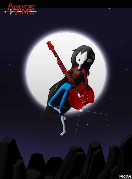 Marceline - illustration, painting - fkim90 | ello