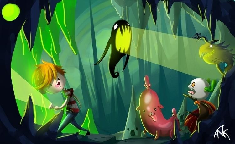 hunterworld - illustration, painting - anikaito | ello