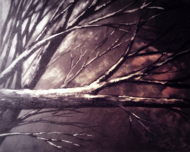 Branches winter - illustration, imaginary - amarek | ello