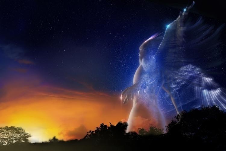 Angel forest - illustration, characterdesign - urimatveg | ello