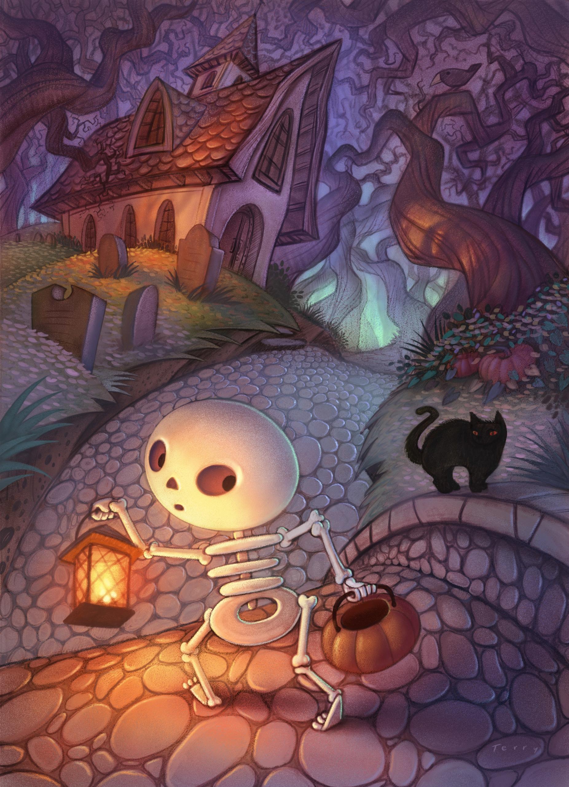 Santa Boarder - halloween, skeleton - willterry | ello