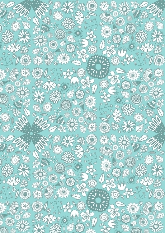 Nature - nature, pattern, flowers - hollydraws | ello