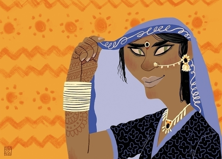 Princess Aouda - illustration, characterdesign - ainaalbi | ello