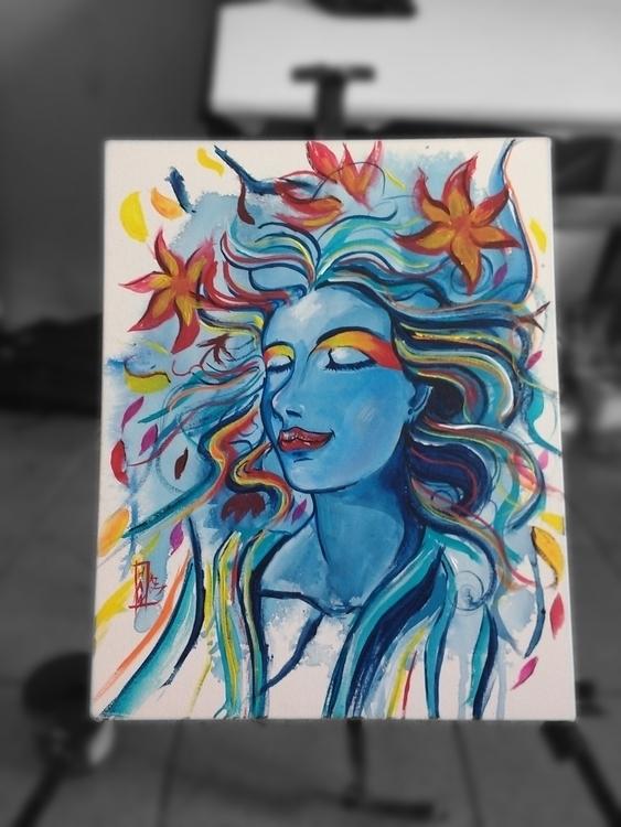 Acrylic Paint 50x60 cm - #traditionalart - hawr | ello