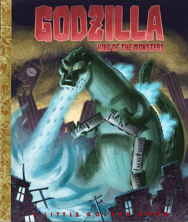 Golden Books: Godzilla: King Mo - tommcweeney | ello