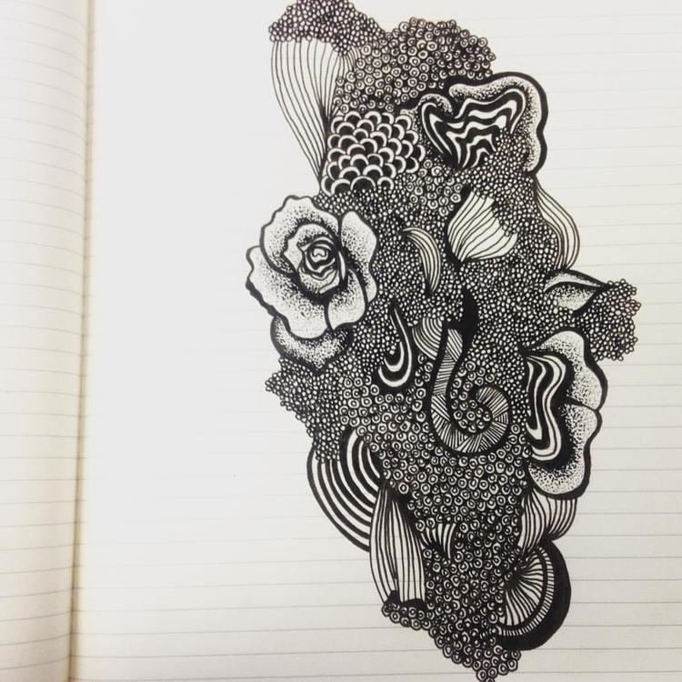 Floral - illustration, doodle - byeblackbirdy   ello