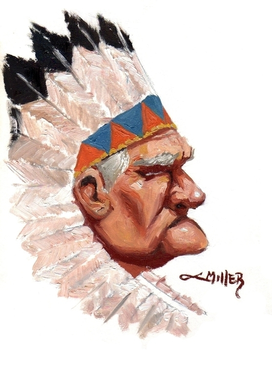 Chief 8x10 Framed Native Americ - camm182 | ello
