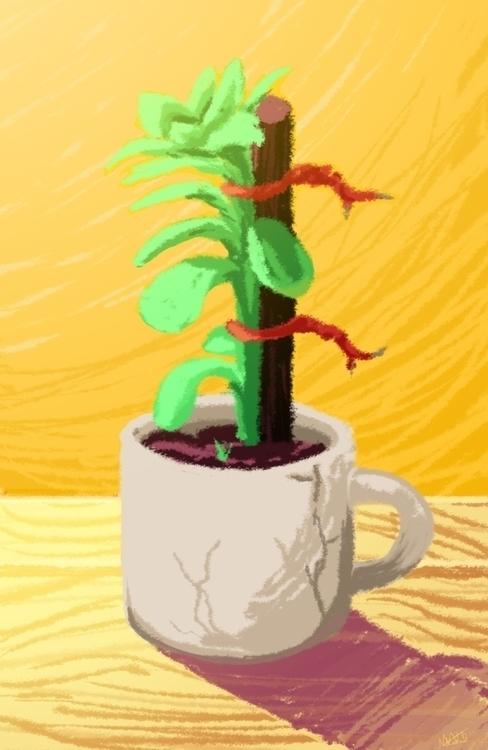 Succulent Mug - illustration, plant - donamarie | ello