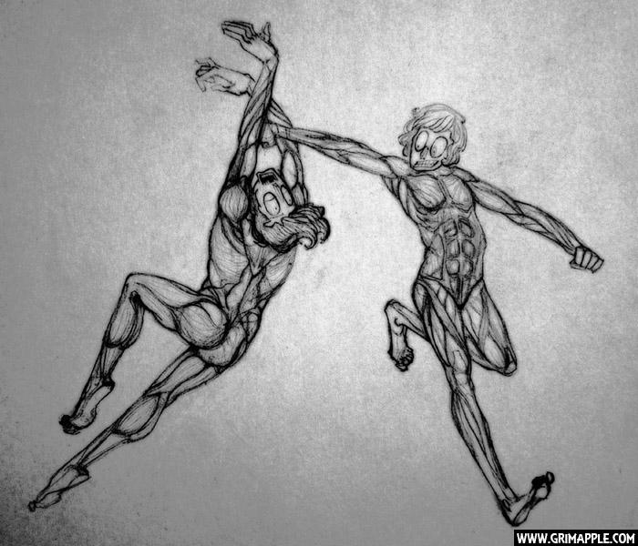 Figures: anatomical study figur - grimapple | ello