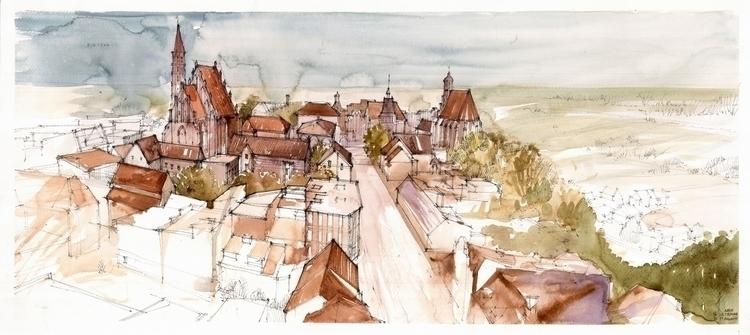 Poland, Chelmno, drawing - architecture - crewthere | ello
